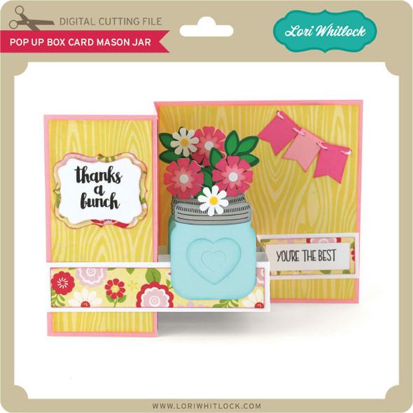 Pop Up Box Card Mason Jar