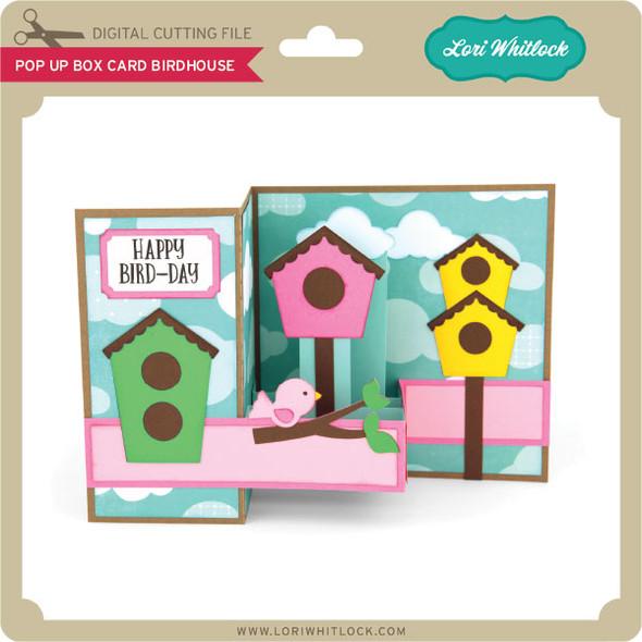 Pop Up Box Card Birdhouse