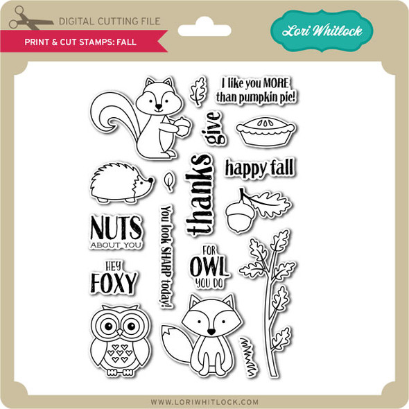 Print and Cut Stamps Fall