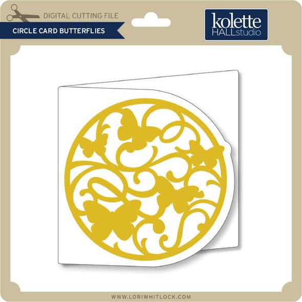 Circle Card Butterflies