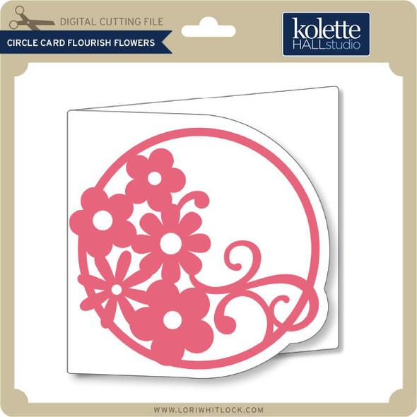 Circle Card Flourish Flowers