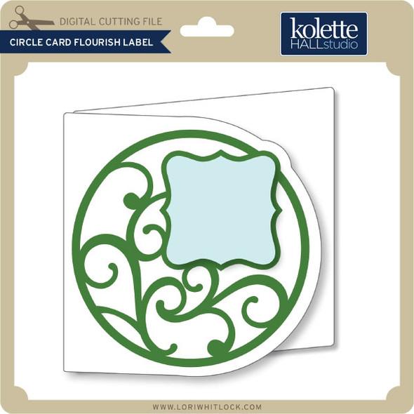 Circle Card Flourish Label