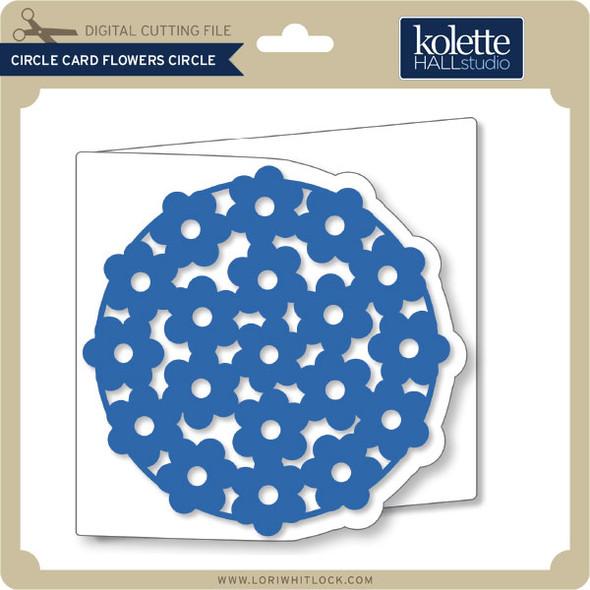 Circle Card Flower Circle