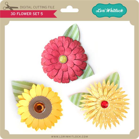 3D Flower Set 5
