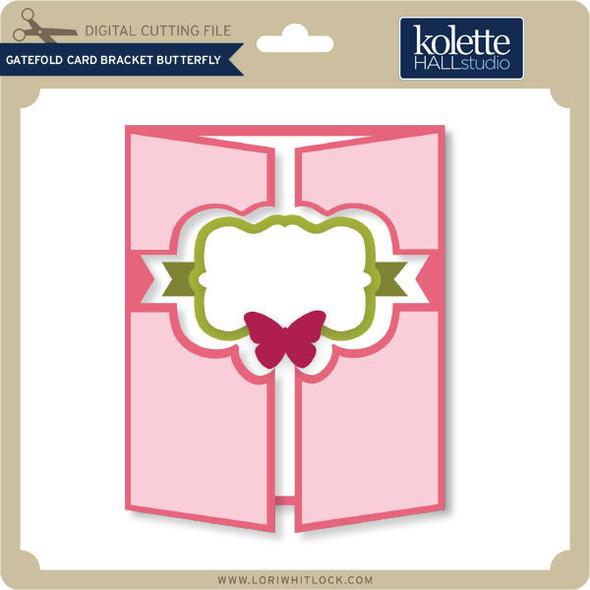 Gatefold Card Bracket Butterfly