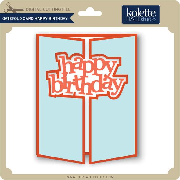 Gatefold Card Happy Birthday