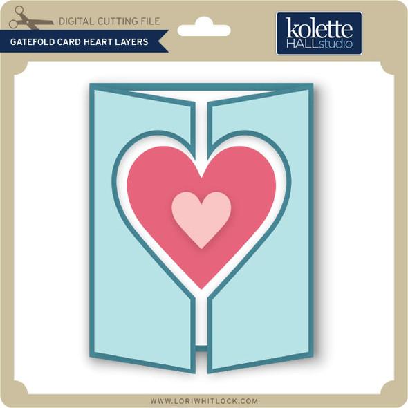 Gatefold Card Heart Layers