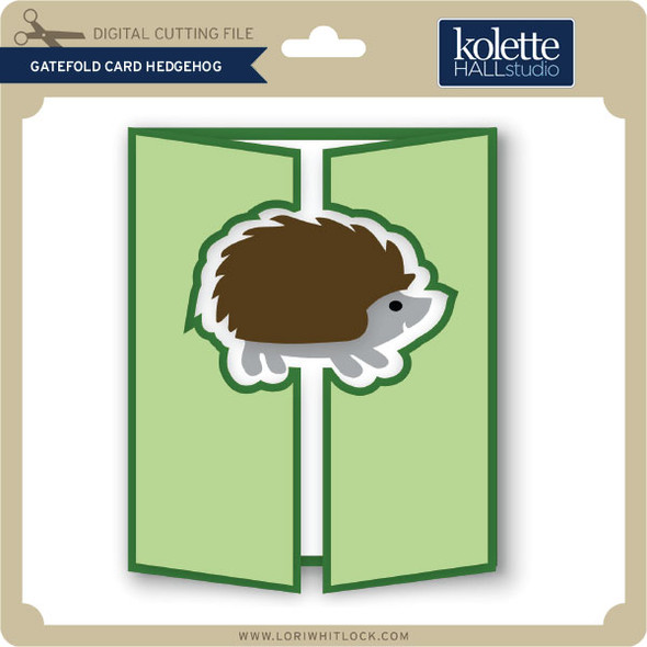 Gatefold Card Hedgehog