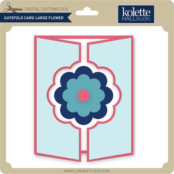 Gatefold Card Large Flower