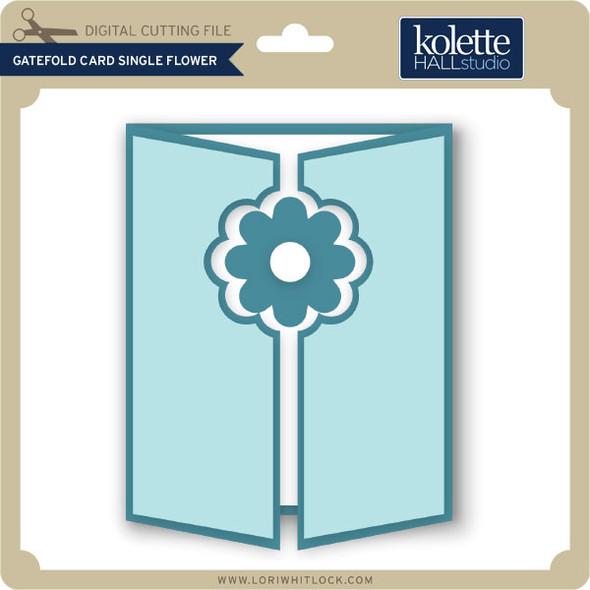 Gatefold Card Single Flower