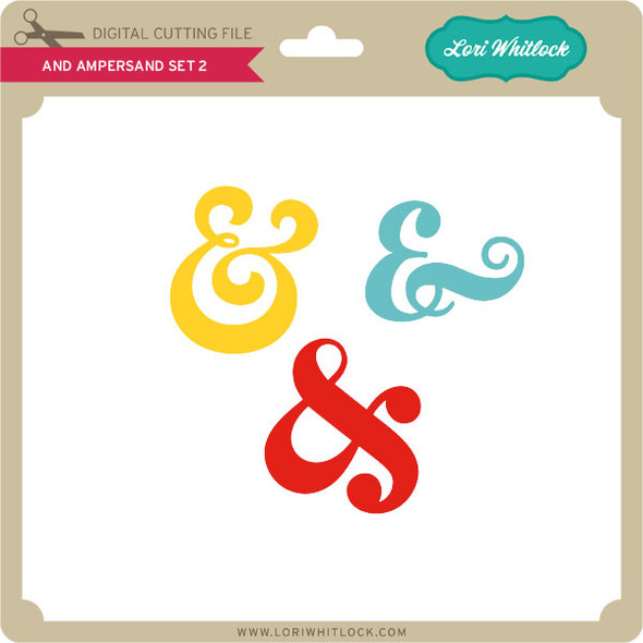 And Ampersand Set 2