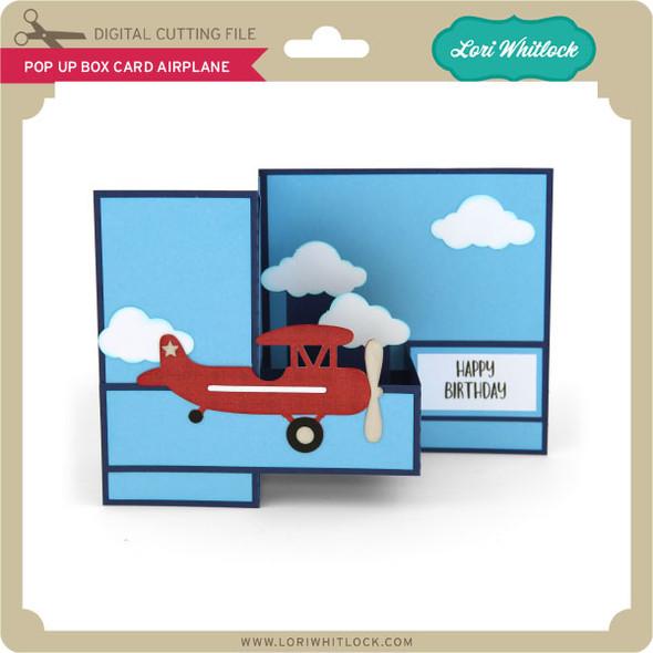 Pop Up Box Card Airplane