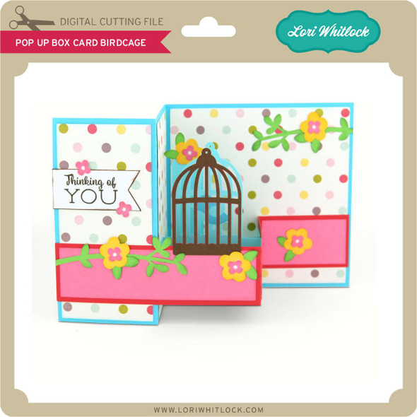 Pop Up Box Card Birdcage