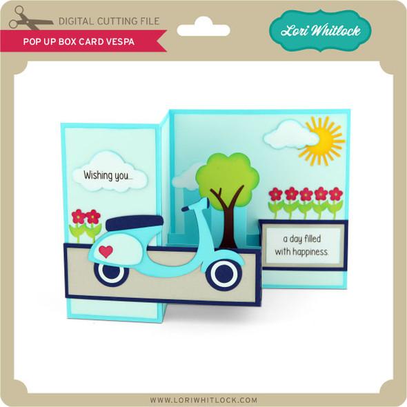 Pop Up Box Card Vespa
