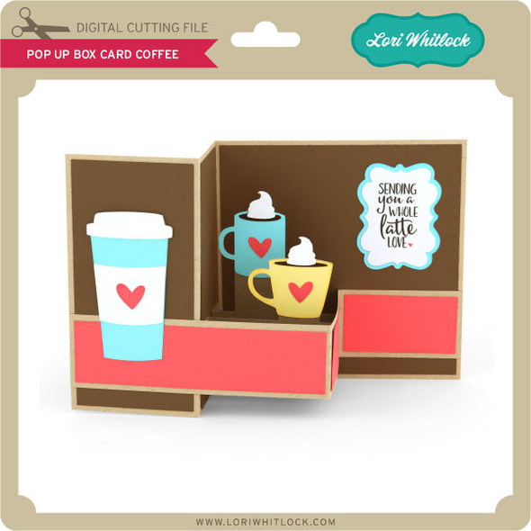 Pop Up Box Card Coffee