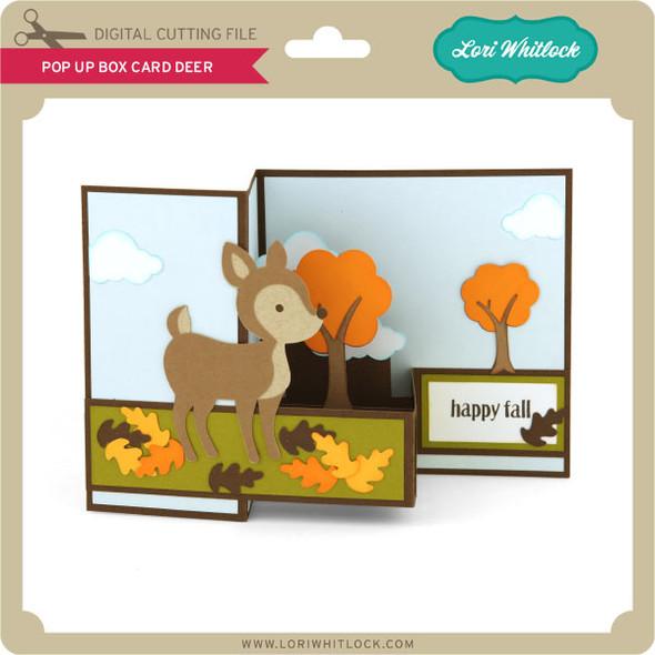 Pop Up Box Card Deer