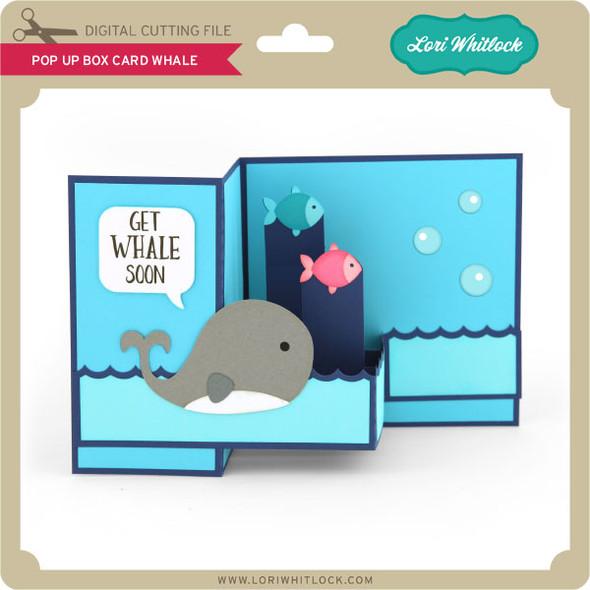 Pop Up Box Card Whale