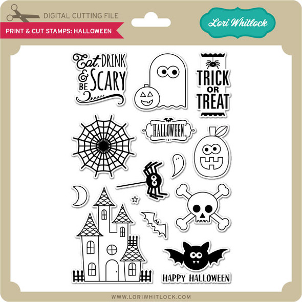 Print & Cut Stamps Halloween