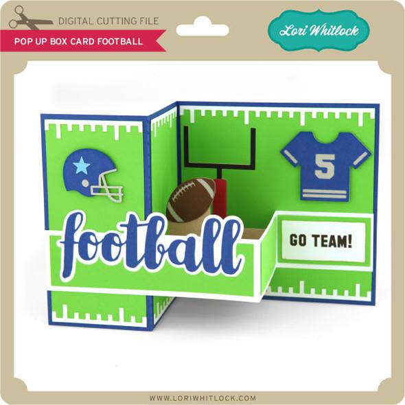 Pop Up Box Card Football