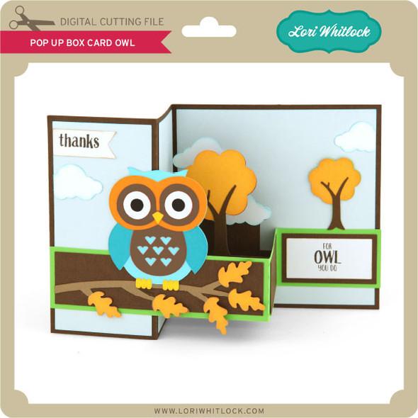 Pop Up Box Card Owl 2