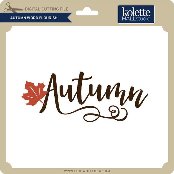 Autumn Word Flourish