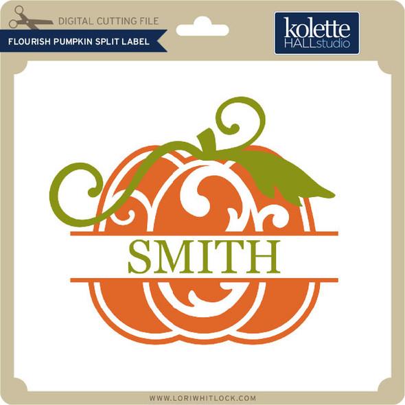 Flouish Pumpkin Split Label