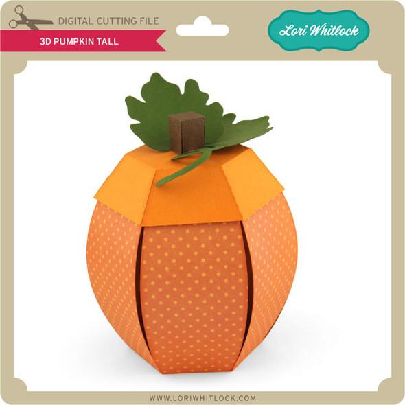3D Pumpkin Tall