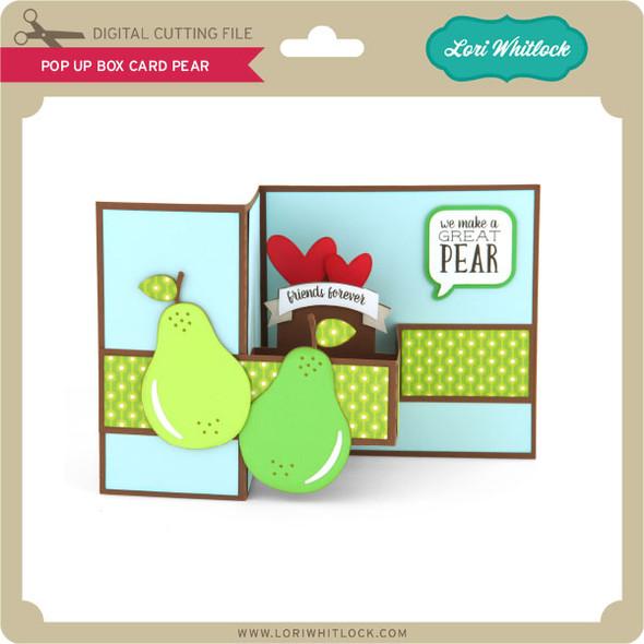 Pop Up Box Card Pear
