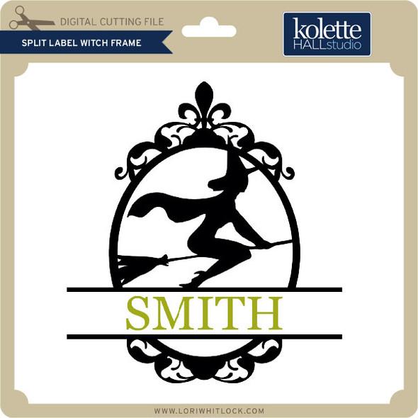 Split Label Witch Frame