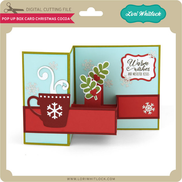 Pop Up Box Card Chistmas Cocoa