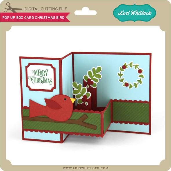 Pop Up Box Card Christmas Bird