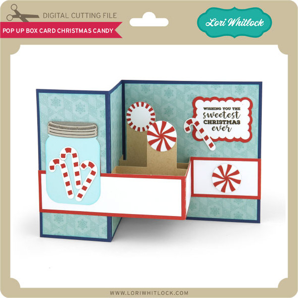 Pop Up Box Card Christmas Candy