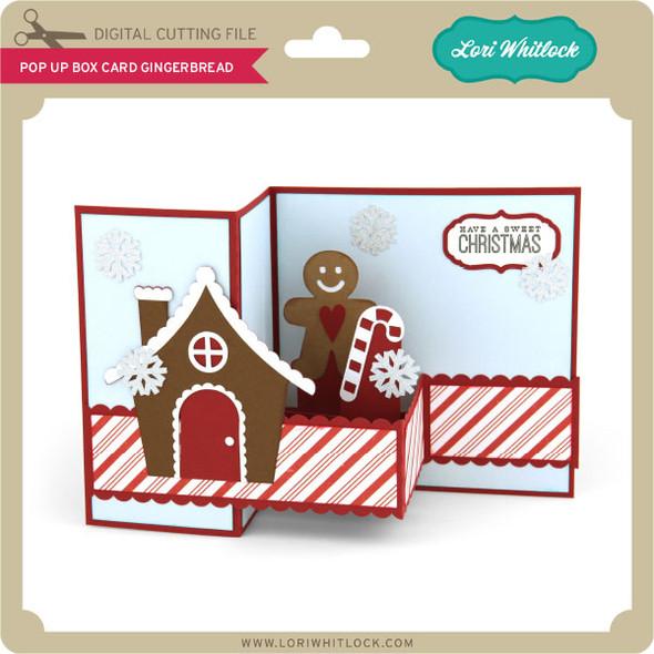Pop Up Box Card Gingerbread