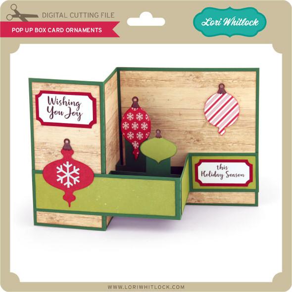 Pop Up Box Card Ornaments