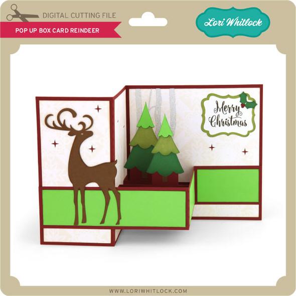 Pop Up Box Card Reindeer