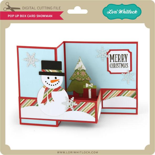 Pop Up Box Card Snowman
