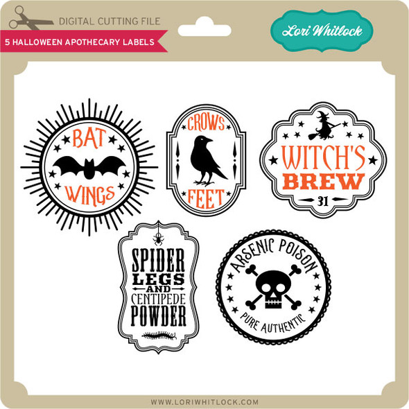 5 Halloween Apothecary Labels