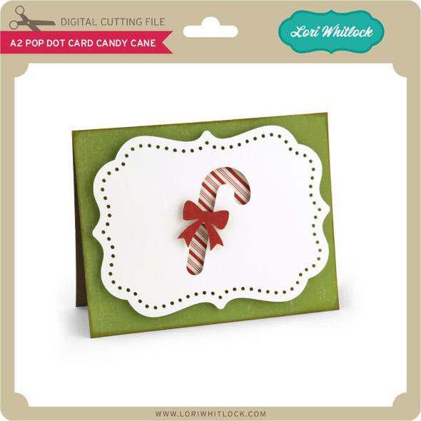 A2 Pop Dot Card Candy Cane