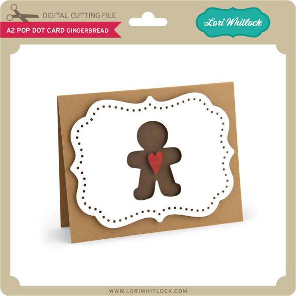 A2 Pop Dot Card Gingerbread