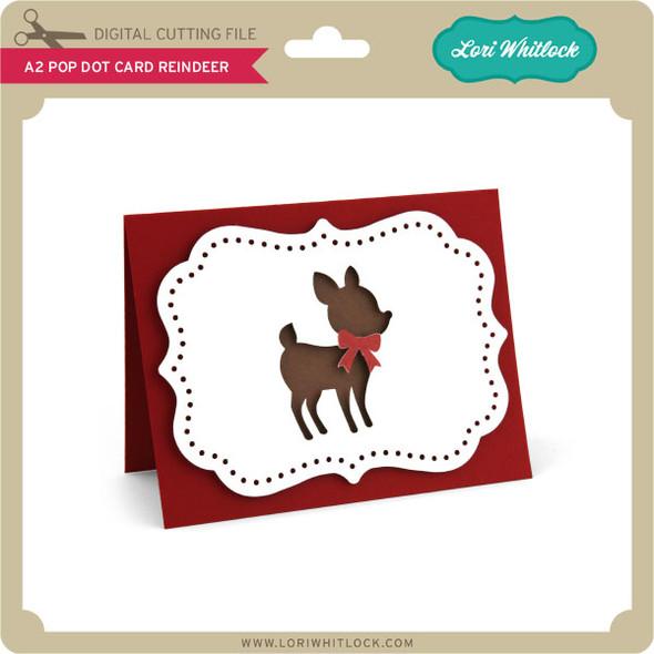 A2 Pop Dot Card Reindeer