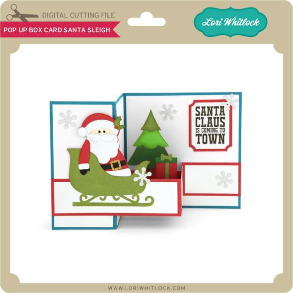 Pop Up Box Card Santa Sleigh