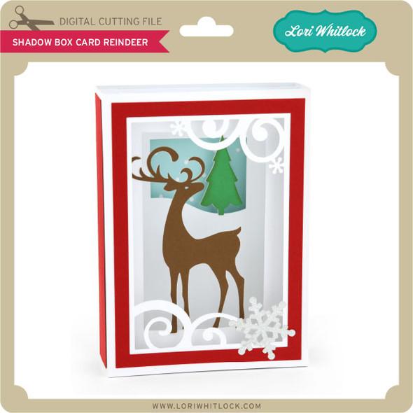 Shadow Box Card Reindeer
