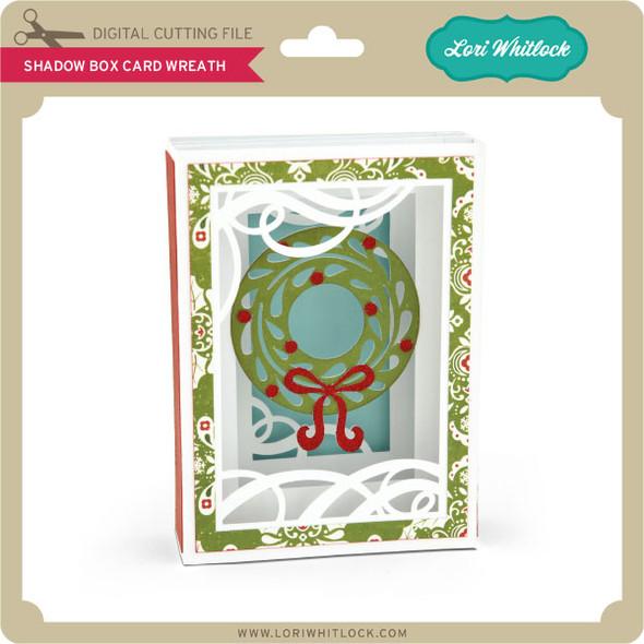 Shadow Box Card Wreath