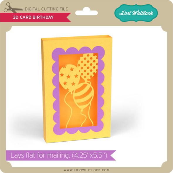 3D Card Birthday