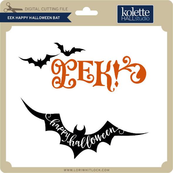 Eek Happy Halloween Bat