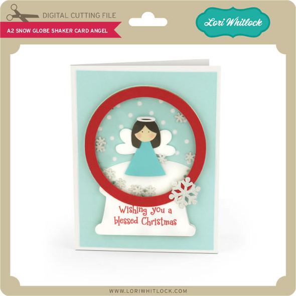 A2 Snow Globe Shaker Card Angel