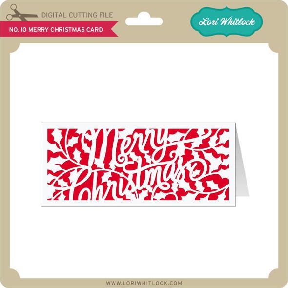 No 10 Merry Christmas Card