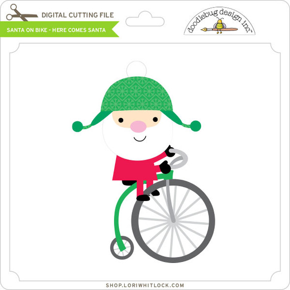 Santa on Bike - Here Comes Santa