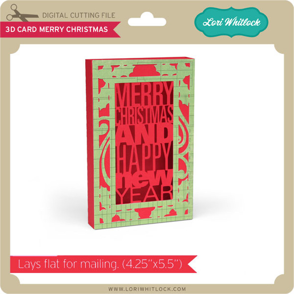 3D Card Merry Christmas