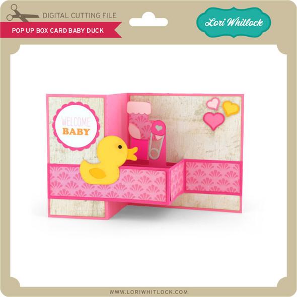 Pop Up Box Card Baby Duck